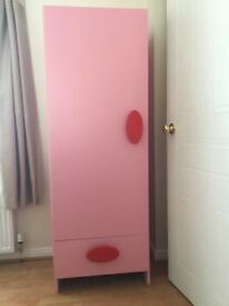 Single Pink Wardrobe - Ideal for young girl