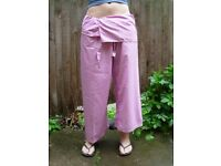 Thai Fisherman trousers for yoga/martial arts