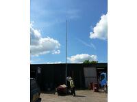 8.75m RADIO / CCTV MAST IN GALVANISED STEEL 3 section