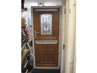 860 x 1960 UPVC Stable Door Light Oak (SHOWROOM)