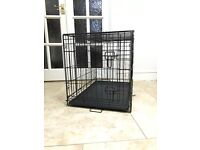 Medium black dog cage (only used once)