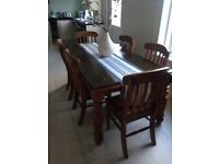 Solid kitchen dining table farmhouse country kitchen style