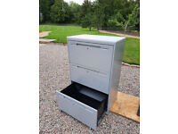 Metal 3 Drawer Wide Cupboard Cabinet for Filing Tools Storage with keys