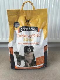 Unopened Green Acres Turkey & Rice 6kg Dry Dog Kibble