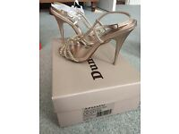 Dune Size 3 Wedding Gold Diamanté Strappy Heels Worn once Perfect Condition