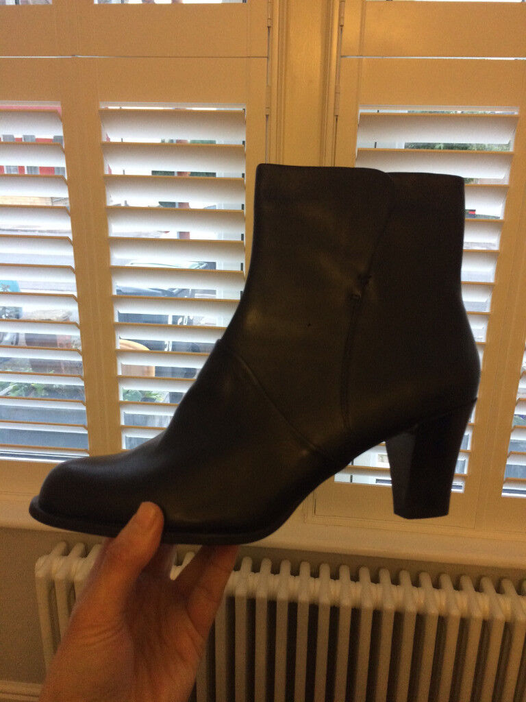 New Leather Heeled Boots - Clarks: Size 8