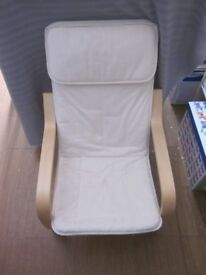 Child's IKEA Poang armchair and cover, vguc
