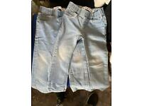Lovely light blue girls skinny jeans size is in pictures very good clean condition