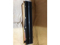 "Nice 2 piece cue in hard case. Length 57"" Good condition."