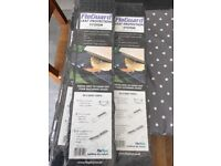 Gutter guard - 10 x 5 metre length packs floguard leaf protection system black brand new