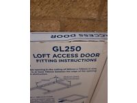 MANTHORPE GL250 INSULATED DROP-DOWN LOFT ACCESS DOOR WHITE 686 X 856MM
