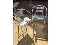 Bistro patio chairs aluminium