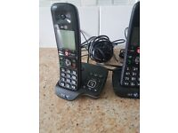 BT Answering machine with 4 handsets