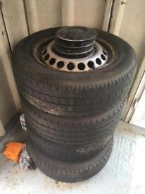 VW T5 T6 Transporter genuine steel wheels with tyres 5mm