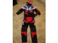 Motorbike helmet and protective clothing for child