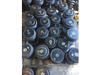 Commercial M&F sports pro Rubber Dumbbell set 10 pair