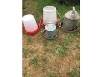 Poultry feeders and water utensils
