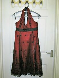Women's black and red occasion dress, size 10