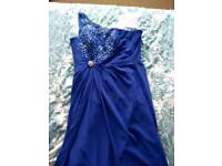 5 Royal Blue bridesmaid dresses, 3 are sized 8-10, 2 are sized 10-12