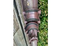 Brown guttering with fittings. FREE