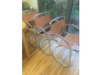 FREE 3 Vintage chrome cantilever chairs