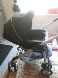 Silver cross linear freeway car seat and frame