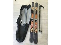 Fischer Skis & Bindings 176 length with Poles (130cm) Used