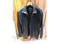 Mens Leather coat medium / Large