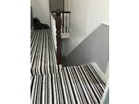 Stripey carpet for hallway/stairs