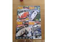 Job lot Volksworld Volksworld Camper and VW Camper magazines x 15