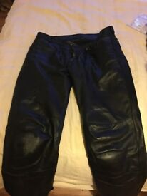 BMW Mens Leather Jeans
