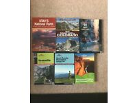 Bundle of USA national park and state books, travel guides and hikes. All as new