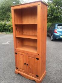Solid Pine Bookcase / cabinet with possible Delivery