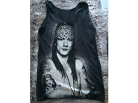 Womens Guns N Roses Axl Rose Rock n Roll Size 8 to 10 Vest Top