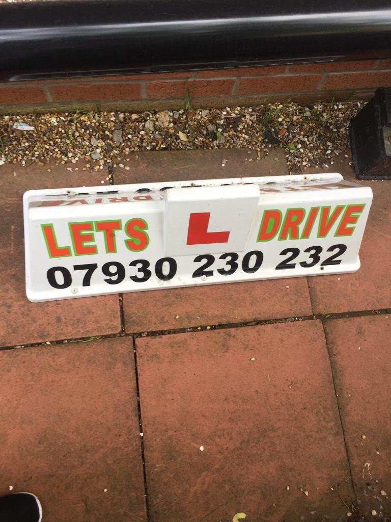 Learner drivers magnetic roof box