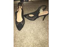 Black heels shoes new look size 5