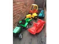 Outdoor Toys - tractor, little Tikes cozy coupe, Rocker etc
