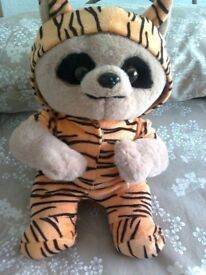 BABY OLEG MEERKAT IN TIGER OUTFIT PLUSH TOY, BRAND NEW WITH TAG