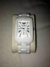 Emporio Armani White Ceramic Unisex Watch