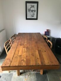 Pallet wood dining table you won't find anywhere else + 4 chairs!!!