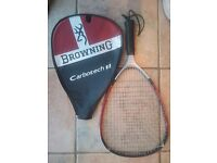 2 Browning Racquet Ball racquets with 3 balls (one used)