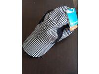 Columbia Sportswear Company Siren Splash Ball Cap summer cap BNWT, black and white gingham