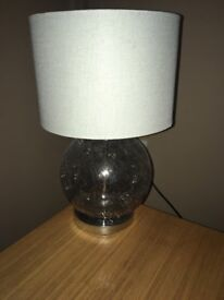 Next crackle effect table lamp