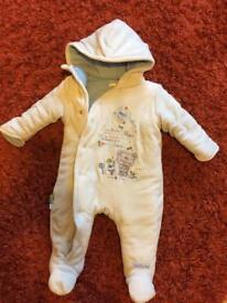 3-6 months baby boy snowsuit
