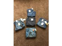 5xBRAND NEW WITH TAGS-WOMENS LEE COOPER,WAREHOUSE,WALLIS JEANS