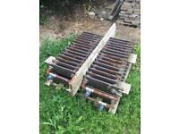 4 old cast iron radiators