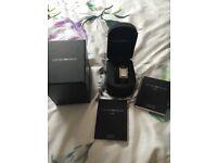 Emporio Armani ladies silver and diamanté watch - pristine and in box