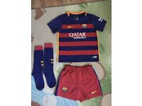 Nike FC Barcelona Home Boys Kit, size 4-5 years
