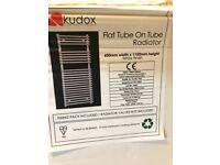 2 x Kudox flat tube on tube radiators 1150mm x 600mm
