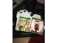 Xbox 1 1tb , 2 games, 2 pads and 9 months Xbox live